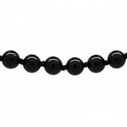 Collier Pierre, perles 8 mm, Onyx