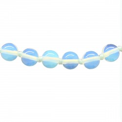 Collier Pierre, perles 8 mm, Opalite