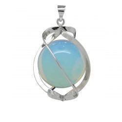 Pendentif Pierre spirale d'Opaline