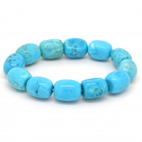 Bracelet Pierre roulée Turquoise