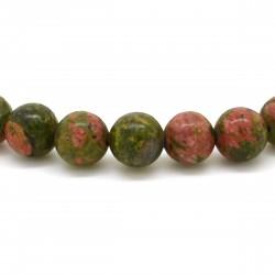 Bracelet Pierre, perles d'Unakite
