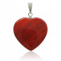Pendentif Pierre, cœur de Jaspe rouge