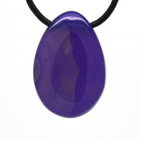 Pendentif Pierre roulée Agate violette