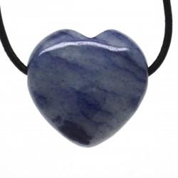 Aventurine bleue, Pendentif Coeur Pierre