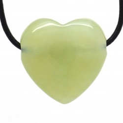 Jade de Chine, Pendentif Coeur Pierre