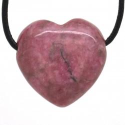 Rhodonite, Pendentif Coeur Pierre
