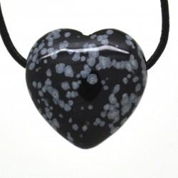 Obsidienne mouchetée, Pendentif Coeur Pierre