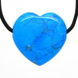 Turquoise, Pendentif Coeur Pierre
