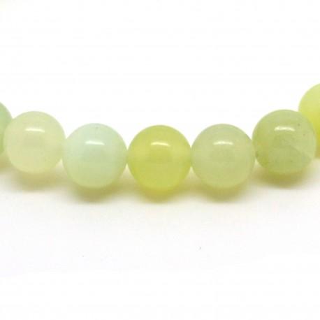 Perles de Serpentine, Bracelet en Pierre