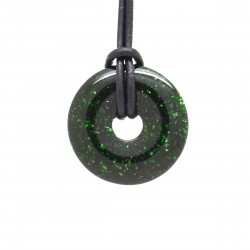 Pierre de soleil verte, donuts pierre 30 mm
