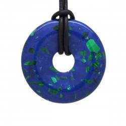 Azurite Malachite, donuts pierre 40 mm