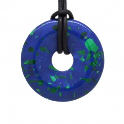 Azurite Malachite, donuts pierre 40 mm