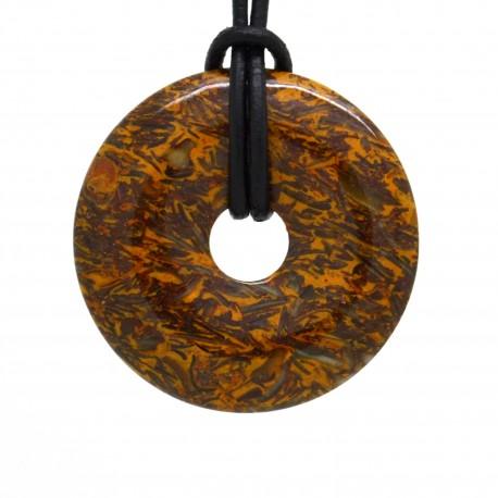 Jaspe serpent, donuts pierre 40 mm