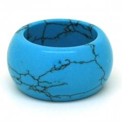 Turquoise, Anneau en pierre 15 mm