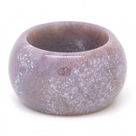 Lépidolite violette, Anneau en pierre