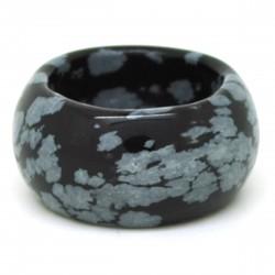 Obsidienne mouchetée, Anneau en pierre