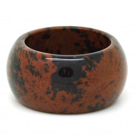 Obsidienne acajou, Anneau en pierre