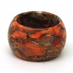 Jaspe bréchique 2, Anneau en pierre 15 mm