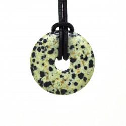 Donuts Pierre, rond de Jaspe dalmatien 30 mm