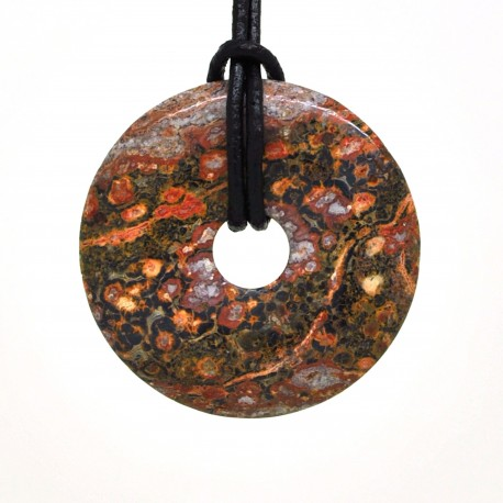 Donuts Pierre, rond de Jaspe léopard 40 mm