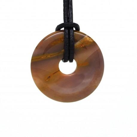 Donuts Pierre, rond de Jaspe mookaite 30 mm