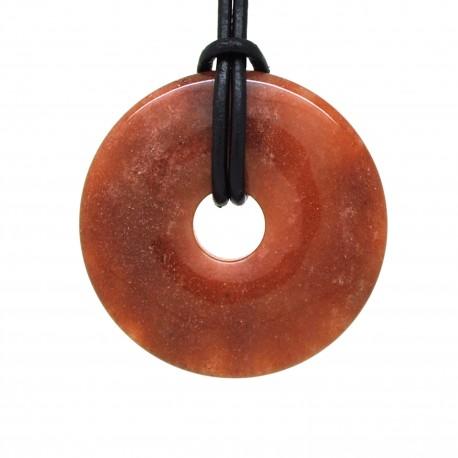 Donuts Pierre, rond Quartz de feu 40 mm