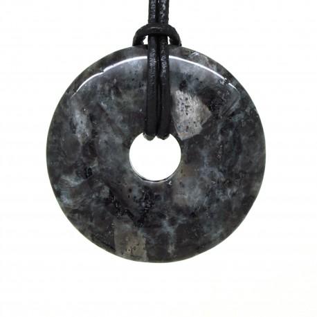 Donuts Pierre, rond de Larvikite 40 mm