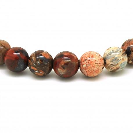Bracelet Pierre, perles de Jaspe bréchique