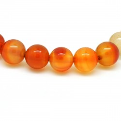 Bracelet Cornaline, perles 8 mm