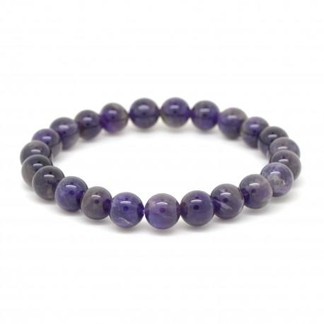 Bracelet Pierre, perles d'Améthyste