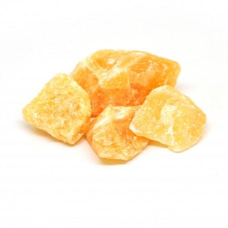 Calcite orange, Pierre brute, par 100 grammes