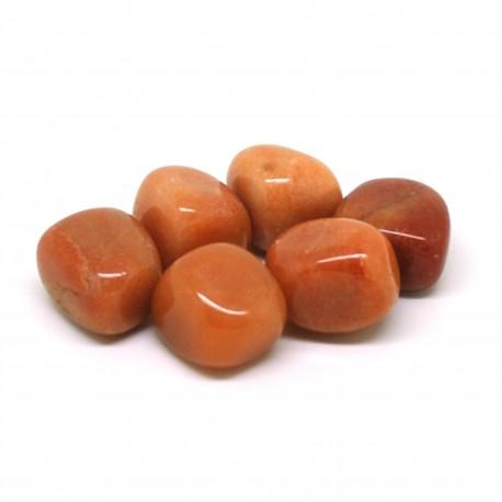 Aventurine rouge, Pierres roulées, par 100 grammes