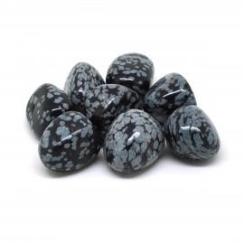 Obsidienne mouchetée, Pierres roulées, par 100 grammes