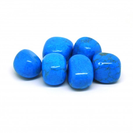 Howlite bleue, Pierres roulées, par 100 grammes.