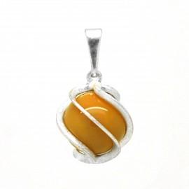 Jaspe Jaune, Petite spirale pierre 6 mm