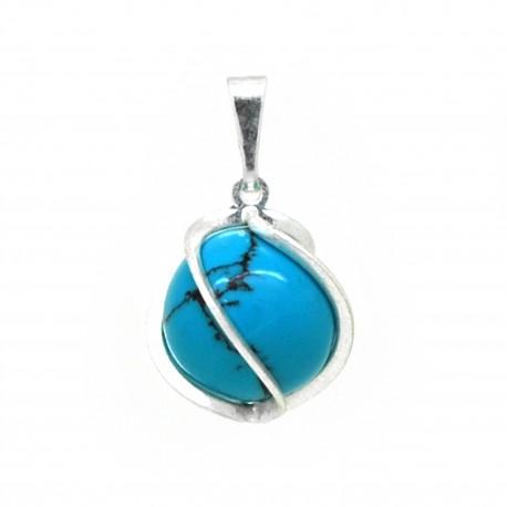 Turquoise, Petite spirale pierre 8 mm