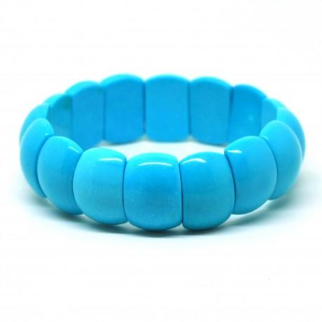Bracelet de Pierre, rectangle de Turquoise