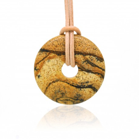 Donuts en Pierre, rond de Jaspe Paysage 30 mm