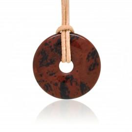 Obsidienne acajou, Donuts en Pierre 30 mm