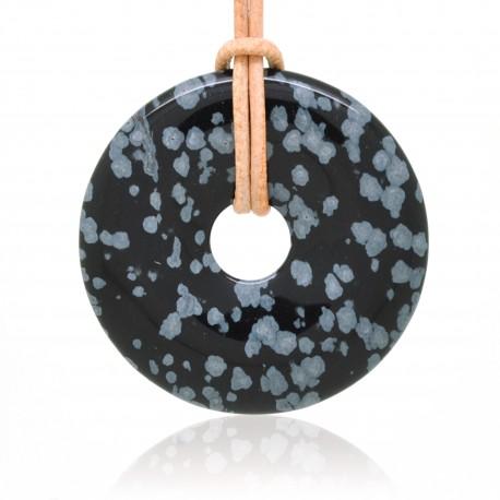 Obsidienne mouchetée, Donuts rond de Pierre 40 mm