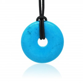 Turquoise, Donuts rond de Pierre 30 mm