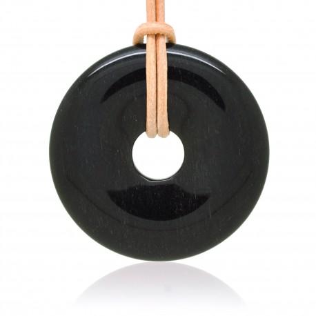 Obsidienne argentée, Donuts Pierre naturelle 40 mm
