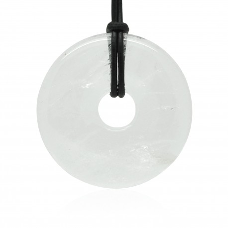 Cristal de roche, Donuts Pierre naturelle 40 mm