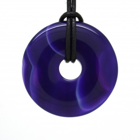 Agate lilas, donuts pierre 40 mm