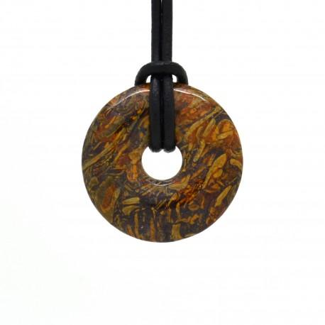 Jaspe peau de serpent, donuts pierre 30 mm