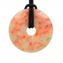 Pierre de soleil naturelle, donuts pierre 40 mm