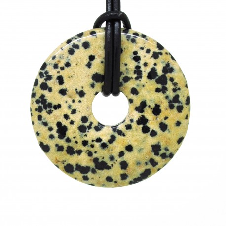 Donuts Pierre, rond de Jaspe dalmatien 40 mm