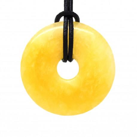 Donuts Pierre, rond de Calcite jaune 40 mm
