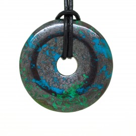 Donuts Pierre, rond Chrysocolle Hématite 40 mm