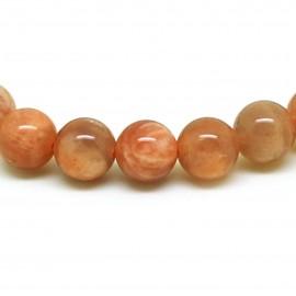 Bracelet perles 8 mm, Pierre de lune naturelle